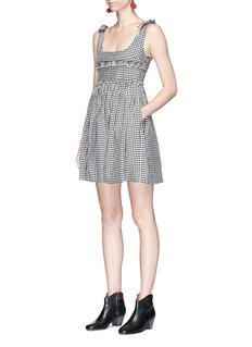 Alexa Chung 'Ballerina' gingham check seersucker dress