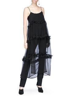 Georgia Alice 'Fairytale' ruffle silk chiffon sleeveless dress