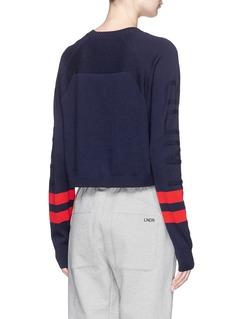 Lndr Stripe sleeve Merino wool blend sweater