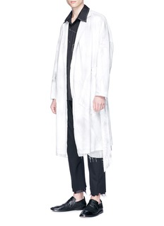 Sulvam Sheepskin leather kimono coat