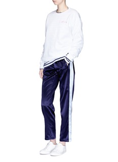 Opening Ceremony Stripe outseam reversible silk track pants