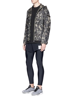 Satisfy Reflective camouflage print packable windbreaker jacket