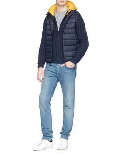 Ecoalf 'Buxton' contrast hood cable knit jacket