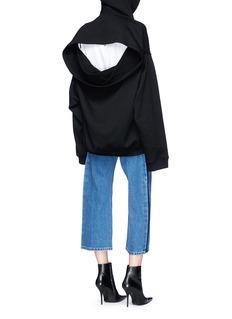 Balenciaga Open back oversized hoodie