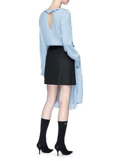 Balenciaga Suiting mini skirt crepe overlay dress