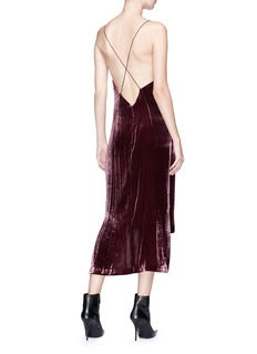 Dion Lee Velvet slip dress