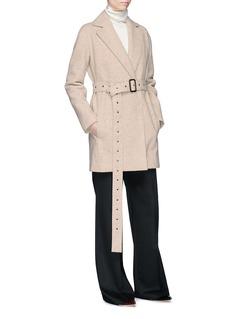 The Row 'Monire' belted wool blend melton coat