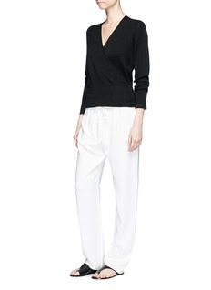 The Row 'Roanna' wrap effect cashmere-silk sweater