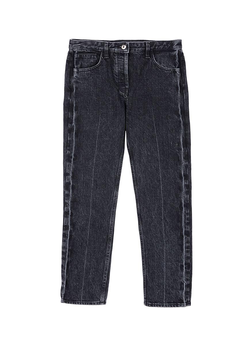 'Ashland' mid rise cropped denim pants