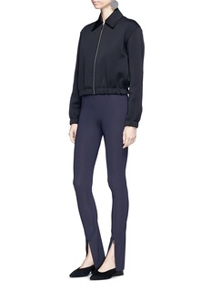 The Row 'Nelma' zip cuff jersey leggings