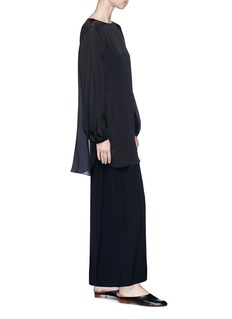The Row 'Ernst' wrap back maxi suiting skirt
