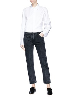 The Row 'Big Juliette' hope embroidered cuff cotton twill shirt