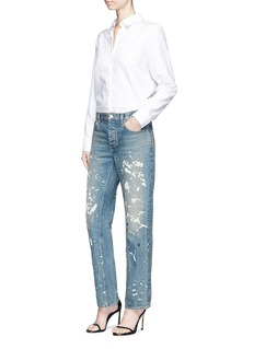 Helmut Lang Paint splatter boyfriend jeans