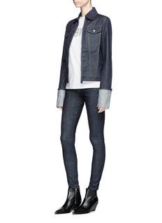 Helmut Lang Fold up cuff zip denim jacket