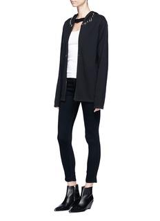 Helmut Lang Spike stud zip hoodie