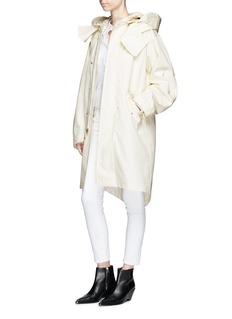 Helmut Lang Detachable hair jacket poplin hooded parka