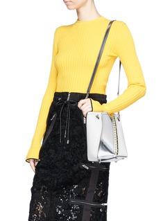 Proenza Schouler 'Hex' mini metallic panel leather bucket bag