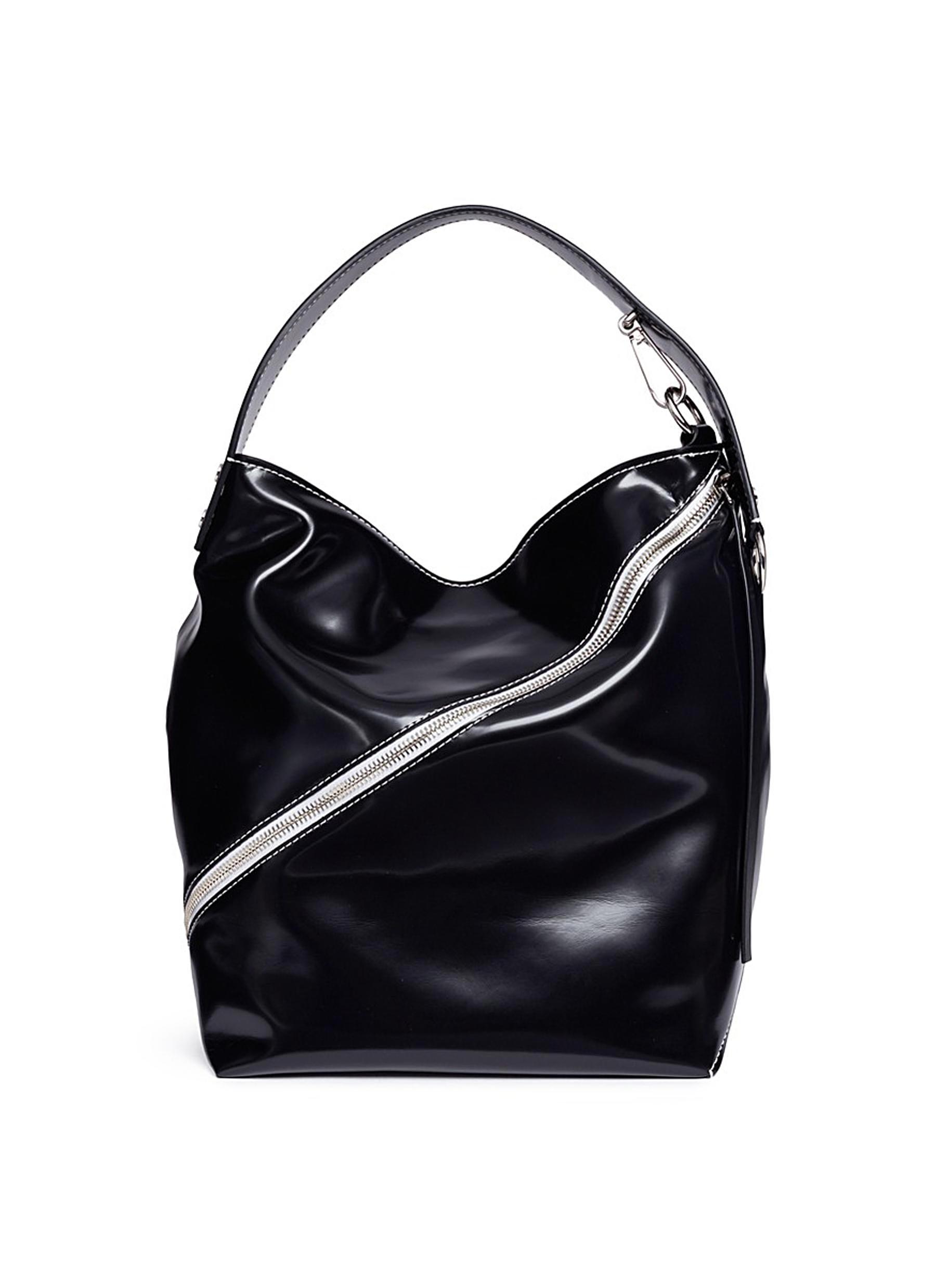 'Hobo' medium leather handbag