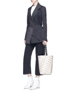 Proenza Schouler 'Hex' stud medium interlocked leather panel bucket bag