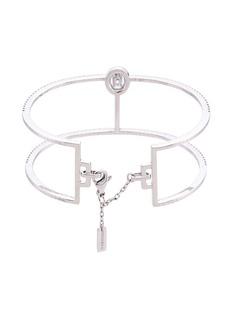 Messika 'Glam'Azone Skinny 2 Row' diamond 18k white gold bangle