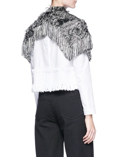 Xu Zhi Fringe shoulder cape