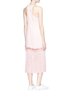 Xu Zhi Fringe hem crepe sleeveless dress