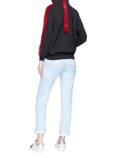 Forte Couture 'Rochelle' velvet stripe hoodie