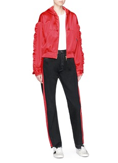 Forte Couture 'Barone Rosso' velvet outseam jeans
