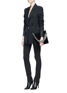Alexander Wang  Layered lambskin leather sleeve suiting jacket