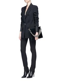 ALEXANDER WANG  装饰双排扣双层衣袖西服外套