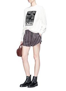 Alexander Wang  Graphic velvet flock oversized long sleeve T-shirt
