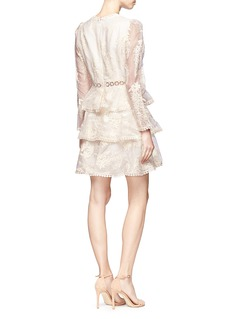 Zimmermann 'Maples' embroidered tiered silk organza dress