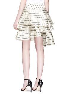 Zimmermann 'Maples Sportive' stripe pleated wrap skirt