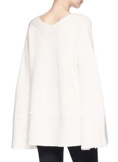 Zimmermann 'Maples' oversized wool-cashmere rib knit sweater