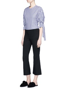 Rosetta Getty Tie sleeve gingham check shirting top