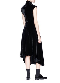 Neil Barrett Keyhole front velvet maxi dress