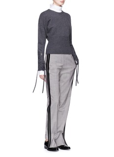 Neil Barrett Stepped cuff herringbone pants