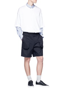 Wooyoungmi Patch pocket poplin shorts