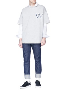 Wooyoungmi Paisley logo print oversized T-shirt