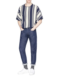 Wooyoungmi High-low stripe T-shirt