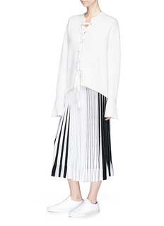 MRZ Lace-up wool-cashmere sweater