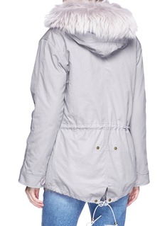 H Brand 'Luella' raccoon and fox fur hooded liner canvas parka
