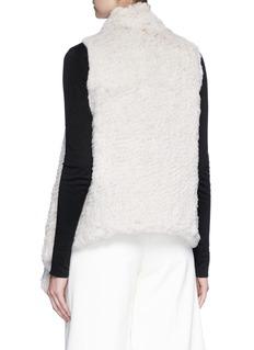 H Brand 'Audra' rabbit fur draped gilet