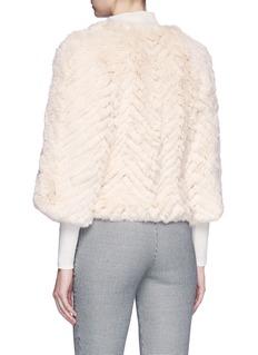 H Brand 'Jagger' batwing cropped rabbit fur jacket