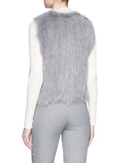 H Brand 'Celine' fox fur short gilet