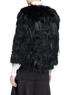 H Brand 'Noah' fox and goat fur short jacket