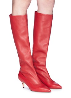 Paul Andrew 'Nadia' nappa leather knee high boots