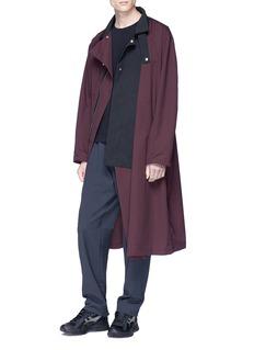 Kiko Kostadinov Stand collar colourblock coat