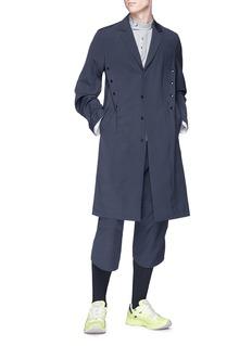 Kiko Kostadinov Snap button pleated wool-mohair coat