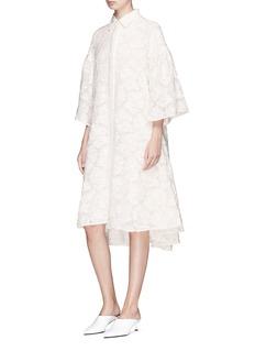 Co Floral fil coupé voile flared dress